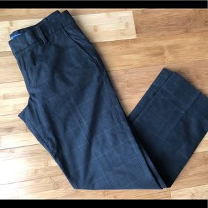 Women's Plaid Gap Straight Fit Black Pants 2